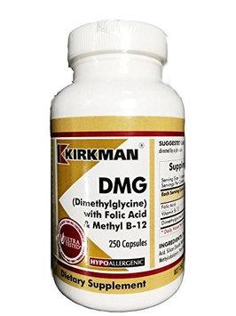 Kirkman Labs DMG (Dimethylglycine) with Folic Acid & B-12 250 Caps by Kirkman