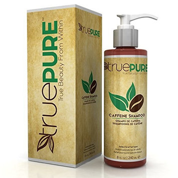 TruePure Natural Caffeine Shampoo - Fragrance Free & Sulfate Free Treatment For Healthy Hair Growth & Hair Loss Prevention - DHT Blocking Formula For Men & Women With Normal To Thin Looking Hair, 8oz
