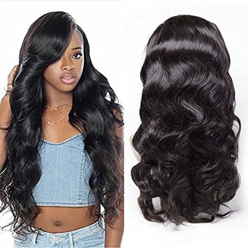 Maxine 360 Lace Frontal Wig Cap With Baby Hair Body Wave Brazilian Virgin Hair 100% Unprocessed Human Hair Wigs For Black Women 180% density 18 inch