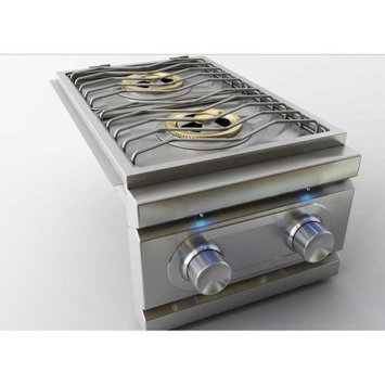 Rcs Gas Grills Stainless Steel Double Side Burner with LED Lights - NG