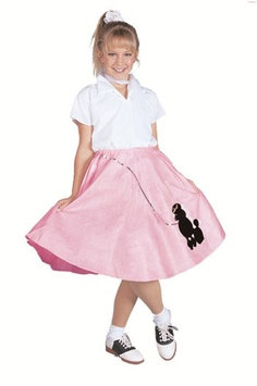 RG Costumes 91031-R-S Red Poodle Skirt Costume - Size Child-Small