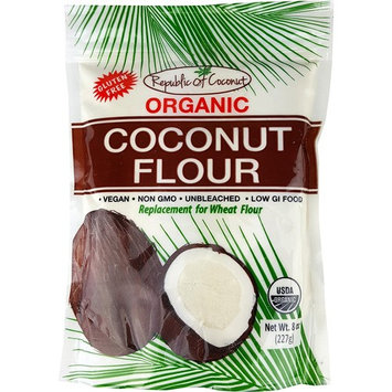 Republic of Coconut Organic Shredded, Unsweetened Coconut, 8-Ounce Packages (Pack of 6)