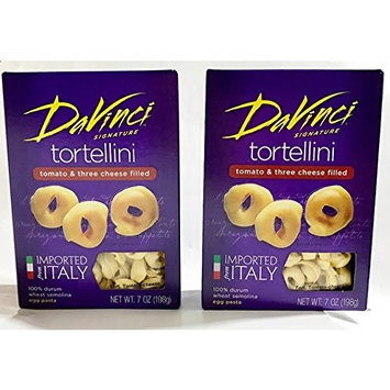 DaVinci Tortellini Tomato & Three Cheese Filled - Product of Italy 7 oz. (Pack of 2)