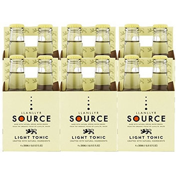 Llanllyr Source Light Tonic Water Mixer (Case of 6-4 Packs, 24 Bottles Total)