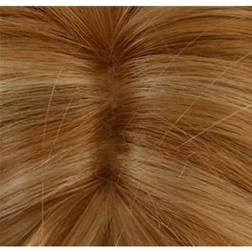 Enilecor 2 Tones Blonde Mixed Golden Highlights Wigs 20 Inch Medium Long Curly Natural Women Heat Resistant Synthetic Hair Cosplay Party Wig with Side Bangs+ Wig Cap ?