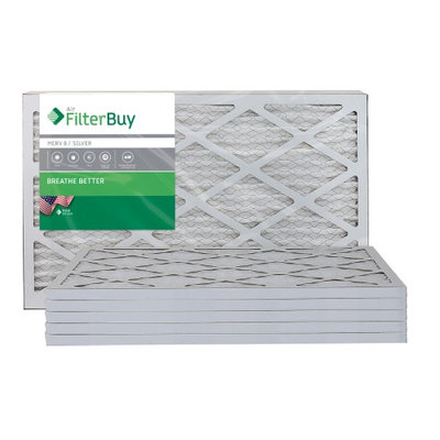 AFB Silver MERV 8 13x25x1 Pleated AC Furnace Air Filter. Filters. 100% produced in the USA. (Pack of 6)
