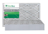 AFB Silver MERV 8 12x25x1 Pleated AC Furnace Air Filter. Filters. 100% produced in the USA. (Pack of 6)