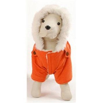 Pet Ego Dogrich Italian Orange Winter Coat Size 18