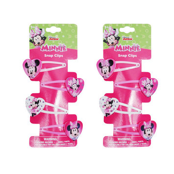 Disney Girls Minnie Mouse Heart Shaped Hair Clips 8-CT
