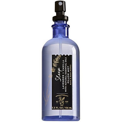 Bath and Body Works Aromatherapy Pillow Mist with Natural Essential Oils (Sleep, Lavender + Vanilla)