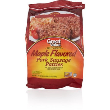 Great Value Maple Flavored Pork Sausage Patties, 24.92 oz