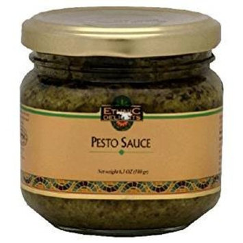 Ethnic Delights Pesto Sauce Kosher For Passover 6.3 Oz. Pack Of 3.