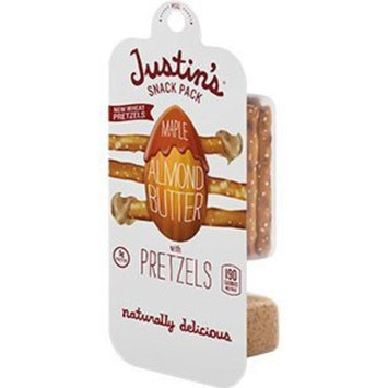 Justin's Nut Butter Justin's Maple Almond Butter + Pretzels Snack Pack, 1.3 Oz (Pack of 6)