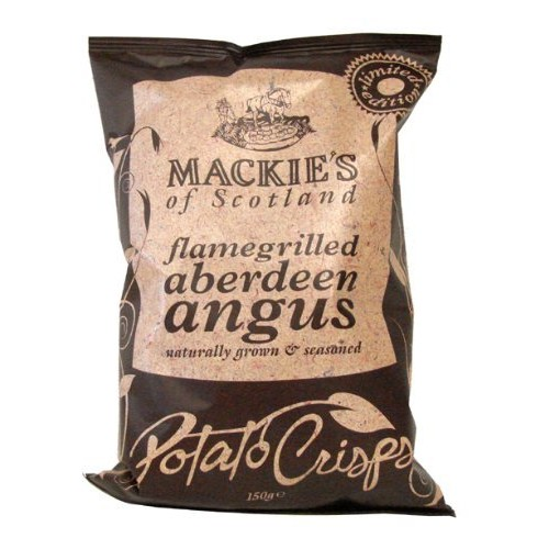 Mackies of Scotland Flamegrilled Aberdeen Angus Potato Chips, 5.3-Ounce (Pack of 12)