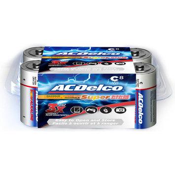 ACDelco C Batteries, Alkaline Battery, 8 Count