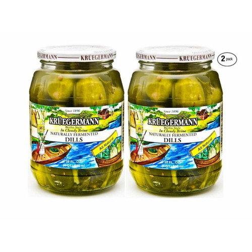Kruegermann Pickles Naturally Fermented Dills in Cloudy Brine 2 Pack (64 floz Total)