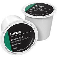 Amazon Brand - 100 Ct. Solimo Light Roast Coffee Pods, Hazelnut Flavored, Compatible with 2.0 K-Cup Brewers [Hazelnut]