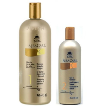 Avlon Keracare Leave in Conditioner 16oz + Keracare Hydrating Detangling Shampoo 32oz
