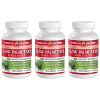 Libido for men - SAW PALMETTO BERRY EXTRACT - Male prostate support - 3 Bottle 180 Softgels
