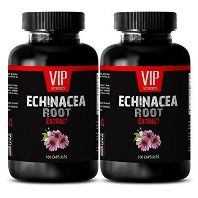 Echinacea plant - ECHINACEA ROOT EXTRACT - Cold relief - 2 Bottles 200 Capsules