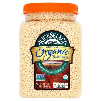 Riviana Foods, Inc. Riceselect, Couscous Pearl Plain Org, 24.5 Oz (Pack Of 4)