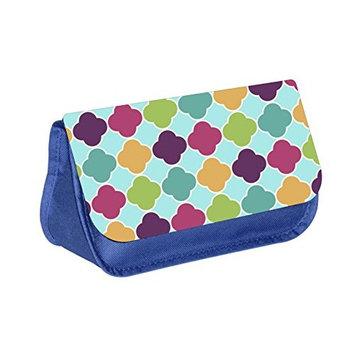 tice - Blue Medium Sized Makeup Bag with 2 Zippered Pockets
