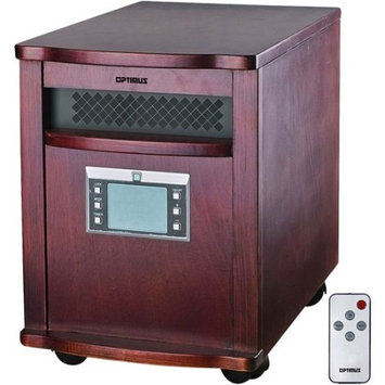 Optimus - Quartz Infrared Heater With Remote - Brown