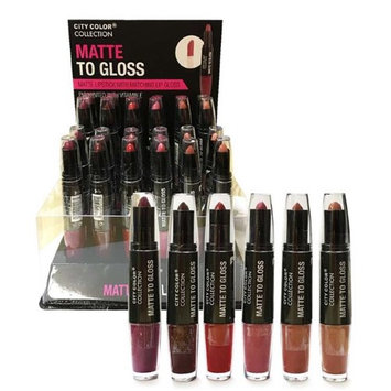 City Color B-0055 L-0010 Matte Lip Gloss & Lipstick - Pack of 6