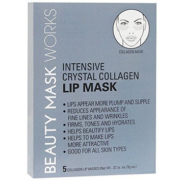 Beauty Mask Works Intensive Crystal Collagen Lip, 5 Count