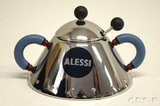 Alessi Michael Graves Sugar Bowl with Spoon Blue