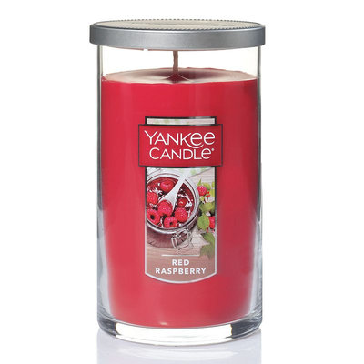 Yankee Candle Red Raspberry 12-oz. Candle Jar, Med Red