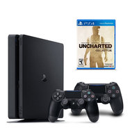 Sony Playstation 4 1TB Uncharted: The Nathan Drake Collection Bundle with 2 Controllers, Multicolor