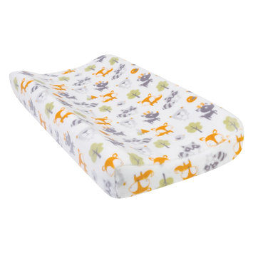 Test Trend Lab Forest Pals Plush Changing Pad Cover, Green