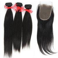 Eayon Hair Top Quality 100% Row Virgin Peruvian Human Hair Straight Hair 3pcs 10