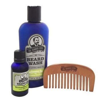 Col Ichabod Conk Southwestern Sun Beard Kit with Wood Comb