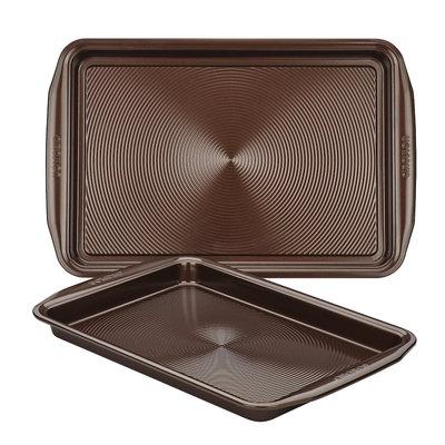 Circulon Bakeware 2-Piece Cookie Pan Set, Chocolate Brown