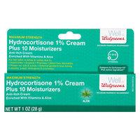 Walgreens Hydrocortisone Plus Cream Maximum Strength Aloe - 1 oz.