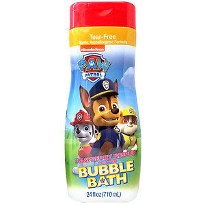 Nickelodeon Paw Patrol Raspberry Rescue Scented Bubble Bath, 24 fl oz