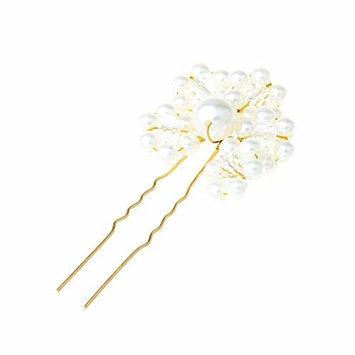 Simdoc Bride Hair Pins,Wedding Pearl Handmade Hair Stick,Bridal Headwear Accessories (G