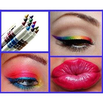 Baomabao 12 Colors Woman Makeup Eye Shadow Eyeliner Lip liner Pen Glitter Cosmetic Sets