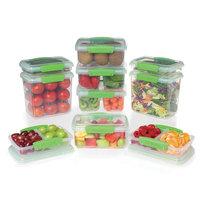 Sistema Medium Clear Green Food Storage Canister Set - 20pc
