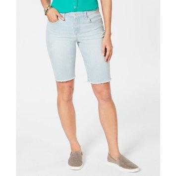 Petite Raw-Hem Bermuda Shorts, Created for Macy's