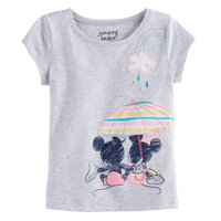 Disney/jumping Beans Disney's Mickey Mouse & Minnie Mouse Toddler Girl Umbrella Graphic Tee by Jumping Beans®, Size: 5T, Light Grey