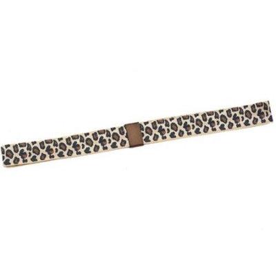 Reflectionz Girls Tan Brown Leopard Print Narrow Headband