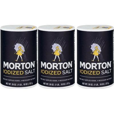 Morton Iodized Salt, 26 Ounce - 3 Cans