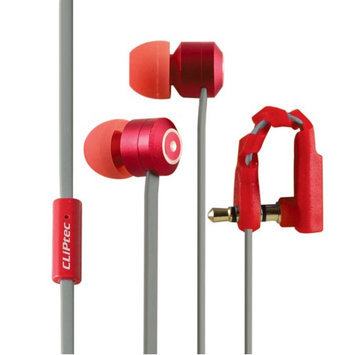 Cliptec Red Curve Music Stereo 3.5mm Wired In-Ear Headphones Noise Isolation In-line Control w/Mic