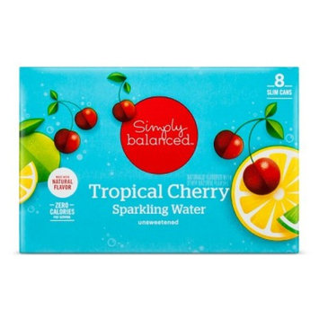 Tropical Cherry Sparkling Water - 8pk/12 fl oz Cans - Simply Balanced™