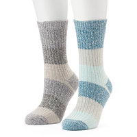 Women's Columbia 2-pk. Striped Crew Socks, Size: 9-11, Multicolor