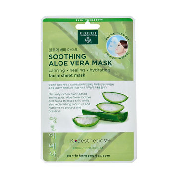Earth Therapeutics Soothing Aloe Vera Face Mask, Multicolor