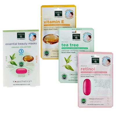 Earth Therapeutics 3-pk. Retinol, Tea Tree and Vitamin E Face Masks Set, Multicolor
